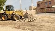 تداوم عملیات نخاله برداری در شهر درگهان
