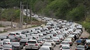 مردم باز هم راهی سفر کرونایی شدند / ترافیک سنگین در آزادراه کرج-تهران