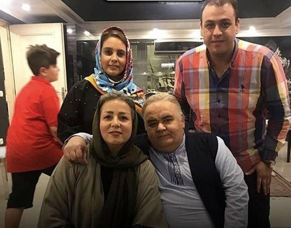 اکبر عبدی و همسرش