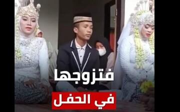 ازدواج عجیب و همزمان یک مرد با دو دختر در یکروز / فیلم عروسی