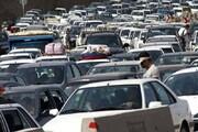 ترافیک شدید ورودی جاده چالوس / فیلم