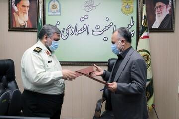 امضای تفاهمنامه همکاری بین پلیس امنیت اقتصادی ناجا و بیمه ایران