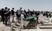 تصویری دردناک از بهشت زهرای تهران؛ صف مردم برای کفن و دفن عزیزانشان! / عکس