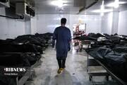 تصاویر دردناک از اجساد قربانیان کرونا در بهشت زهرا
