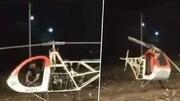 ویدیو دلخراش از لحظه برخورد مرگبار پروانه هلیکوپتر به سر خلبان