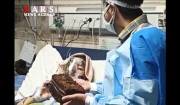 جشن تولد برای بیمار کرونایی در بیمارستان قائم مشهد / فیلم