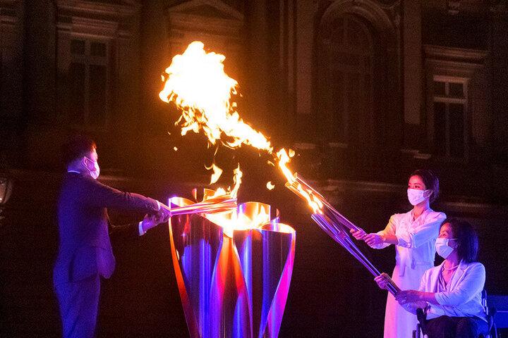 تصاویری جالب از روشن شدن مشعل پارالمپیک توکیو / فیلم