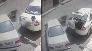 شگرد عجیب سارق برای دزدی از صندوق عقب یک خودرو در اهواز / فیلم