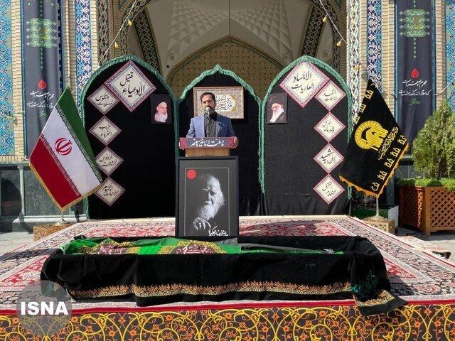 مراسم تشییع پیکر محمدرضا حکیمی برگزار شد / عکس