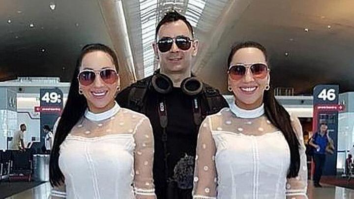 ازدواج جنجالی ۲ خواهر دوقلو با یک پسر! / عکس