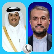 گفتگوی تلفنی وزیران امور خارجه ایران و قطر و تاکید بر توسعه روابط دو طرف