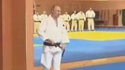 تمرین جودو ولادیمیر پوتین رییس جمهور روسیه در باشگاه ورزشی / فیلم