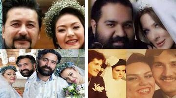 تصاویر جالب و دیده نشده از جشن عروسی بازیگران مشهور سینمای ایران