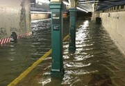 ویدیو باورنکردنی از سیل وحشتناک در مترو نیویورک