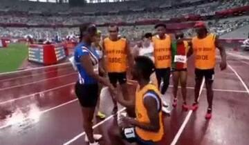 لحظه احساسی خواستگاری از دونده نابینا در پارالمپیک ۲۰۲۰ / فیلم
