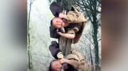تمرینات عجیب کودکان در معبد / فیلم