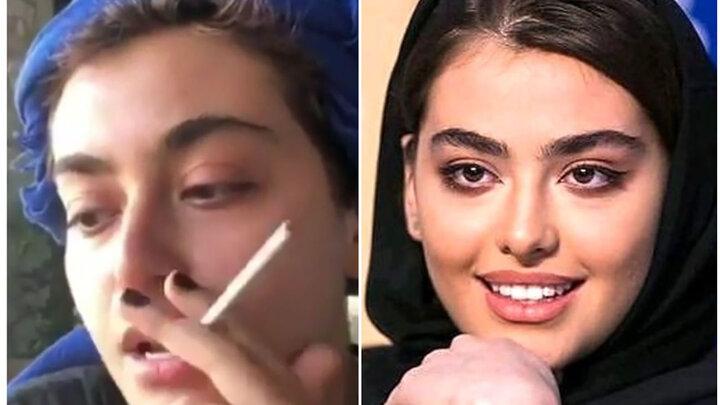 فیلم آرایش ریحانه پارسا به سبک بازیگران دهه ۷۰ میلادی