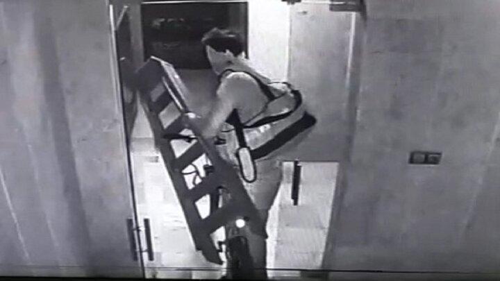 سرقت عجیب دوچرخه از پارکینگ / فیلم