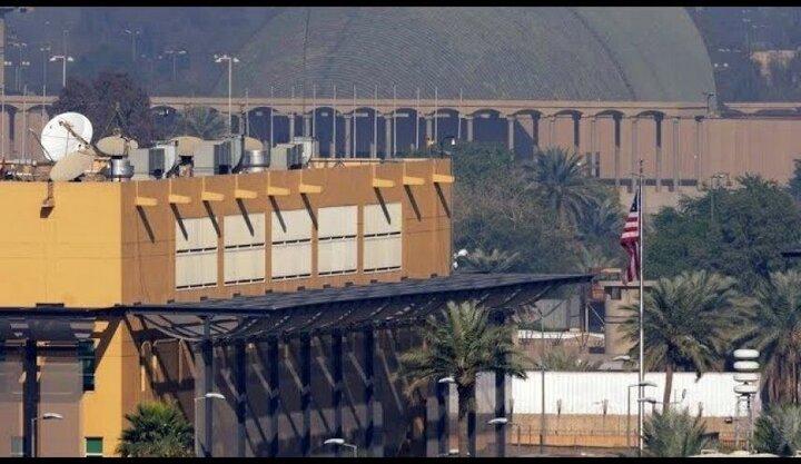 شنیده شدن صدای آژیر از سفارت آمریکا در بغداد