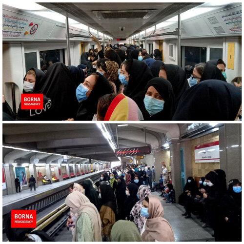 وضعیت متروی تهران در اولین روز هفته