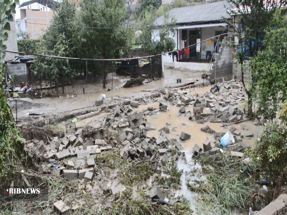 تصاویری از سیل ویرانگر در مازندران