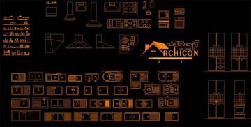 دانلود بلوکهای مبلمان اتوکد استاندارد برای نقشههای معماری