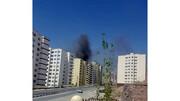 یکی از ساختمانهای پردیس آتش گرفت / فیلم