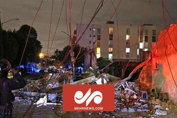اتفاق عجیب پس از زلزله ۷.۱ ریشتری در مکزیک / فیلم