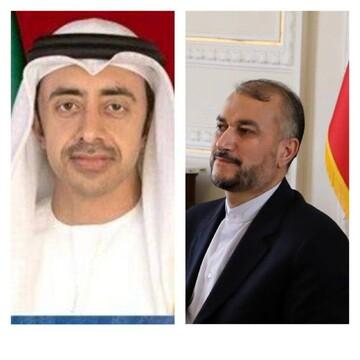 گفتگوی تلفنی وزرای امور خارجه ایران و امارات