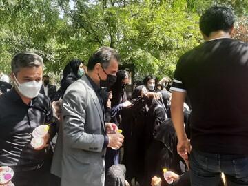 عباس انصاریفرد در قطعه نامآوران به خاک سپرده شد / عکس