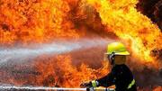 تصاویری از لحظه آتش گرفتن خودروی شاهین در همدان / فیلم
