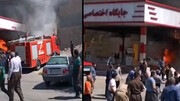 فیلم هولناک از آتش سوزی در پمپ بنزینی در پاوه