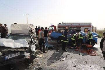 تصادف هولناک در جاده مهاباد - ارومیه / ۷ نفر کشته و زخمی شدند