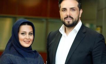 مجری مشهور تلویزیون به همراه همسرش در خودروی لاکچری / عکس