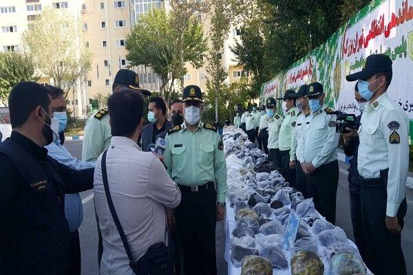 دستگیری اعضای ۴ باند بزرگ مواد مخدر در تهران / ۲ تُن انواع موادمخدر کشف شد