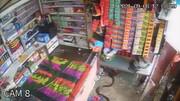 ویدیویی هولناک از تعقیب و گریز مار و موش در جلوی چشم فروشنده مغازه