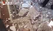 تصاویری از میزان خسارت زلزله در روستای دیزادیز قوچان / فیلم