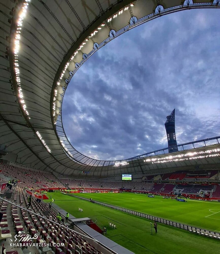 تصویری فوق العاده جذاب از محل برگزاری بازی تراکتور و النصر