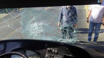 تصادف مرگبار اتوبوس بی آر تی در تهران / عکس