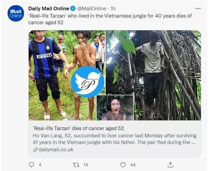 تارزان واقعی در ۵۲ سالگی درگذشت! / عکس
