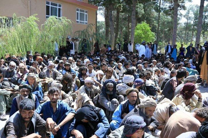 ویدیویی از رفتار عجیب طالبان با معتادان در سطح شهر
