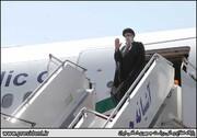 مراسم بدرقه رئیسی در اولین سفر خارجی / تصاویر