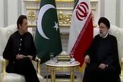 دیدار عمران خان با رئیسی در تاجیکستان