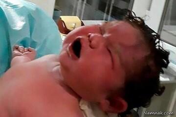 زن روسی در بیمارستان بچه غول زایید! / عکس