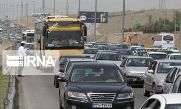 ترافیک نیمه سنگین و سنگین در مسیرهای ورودی تهران