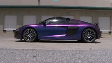 رونمایی از خودروی عجیب که رنگش تغییر میکند! / فیلم