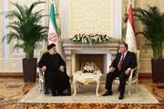 روسای جمهور ایران و تاجیکستان دیدار کردند