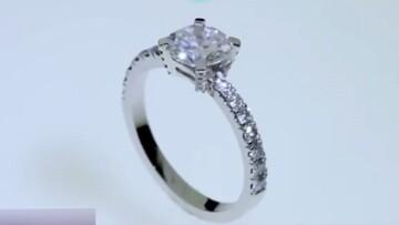 ساخت انگشتر تماشایی و گرانقیمت از پلاتین و الماس / فیلم