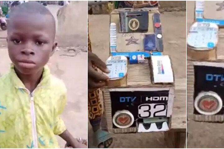 کودک ۱۰ ساله یک دستگاه خودپرداز عجیب ساخت / فیلم