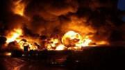 فیلمی از لحظه انفجار مهیبتانکر حمل سوخت در الیگودرز